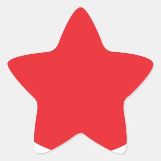 Punto rojo (rojo de Japón) Pegatina En Forma De Estrella