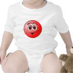 Punto rojo traje de bebé