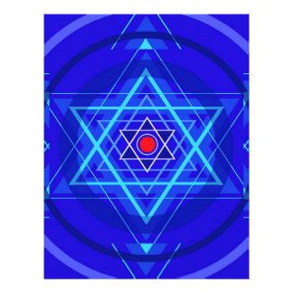 Punto rojo y las estrellas judías azuladas membrete