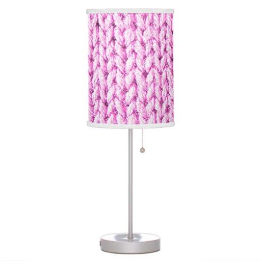 Punto rosado (falsa textura hecha punto de la foto lámpara de mesa