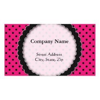 Punto rosado negro caliente de la tarjeta de visit tarjetas de visita