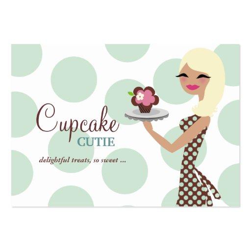 Punto rubio ligero de 311 CandieCupcake Cutie Turq Tarjetas Personales