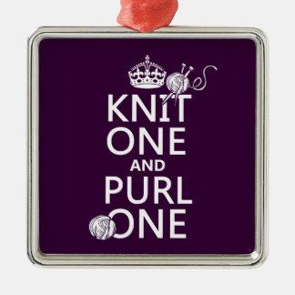 Punto uno y puntilla una (guarde tranquilo-todos adorno navideño cuadrado de metal