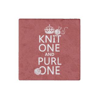 Punto uno y puntilla una (guarde tranquilo-todos imán de piedra