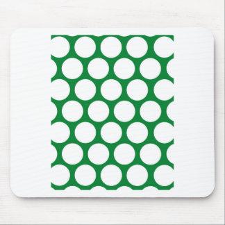 Punto verde de Polke Alfombrillas De Ratones