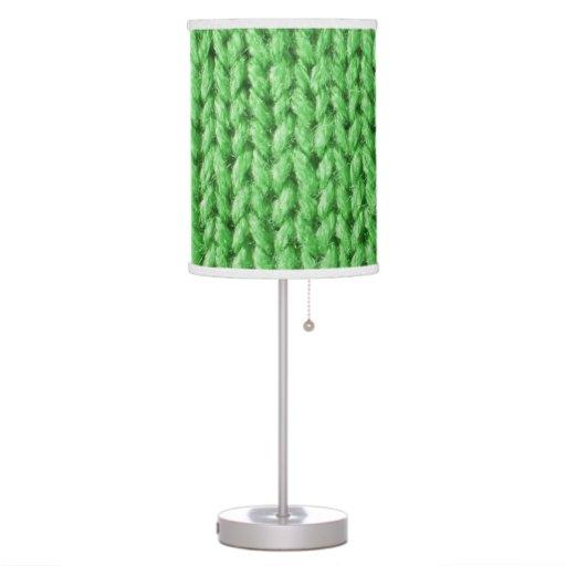 Punto verde (falsa textura hecha punto de la foto) lámpara de mesilla de noche