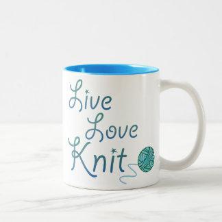 Punto vivo del amor para los calceteros (una taza de dos tonos