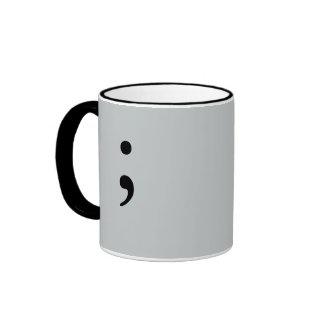 Punto y coma (gris) taza a dos colores
