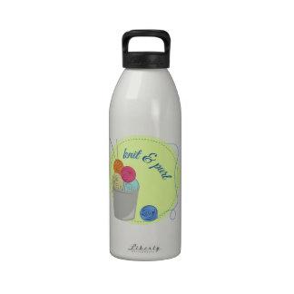 Punto y puro botella de agua reutilizable