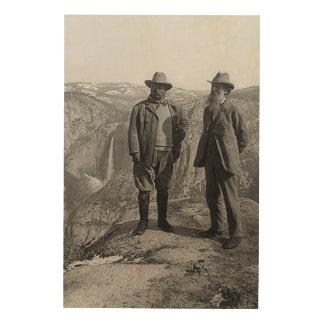 Punto Yosemite del glaciar de Teddy Roosevelt John Impresión En Madera