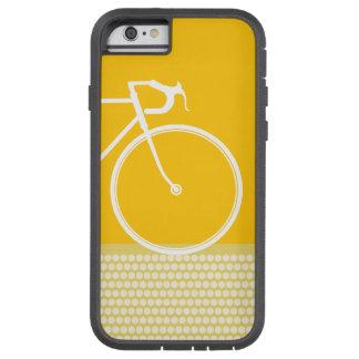 puntos abstractos amarillos de la bicicleta funda para  iPhone 6 tough xtreme