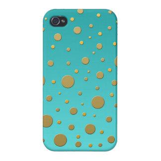 Puntos al azar del oro en modelo moderno de la iPhone 4 protectores
