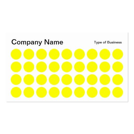 Puntos - amarillo, blanco y negro tarjetas de negocios