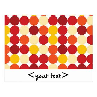 Puntos amarillo-naranja y rojos de Biege Tarjeta Postal