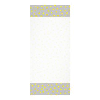Puntos amarillos y grises del confeti tarjetas publicitarias