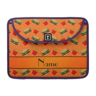 Puntos anaranjados conocidos personalizados de las fundas para macbooks