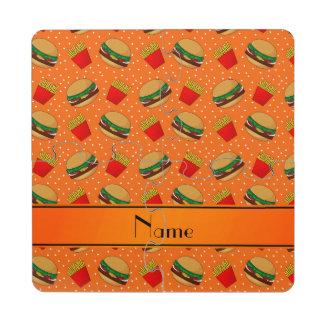 Puntos anaranjados conocidos personalizados de las posavasos de puzzle