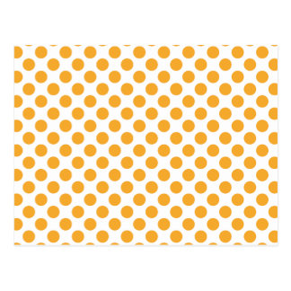 Puntos anaranjados grandes en blanco tarjetas postales