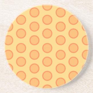 Puntos anaranjados posavasos de arenisca