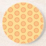 Puntos anaranjados posavasos diseño