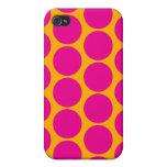 Puntos anaranjados y magentas iPhone 4/4S fundas