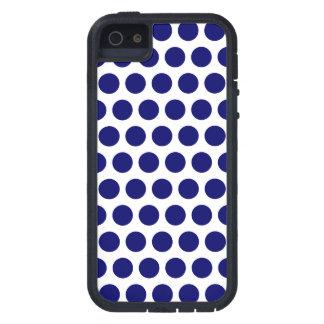 Puntos azul marino iPhone 5 fundas