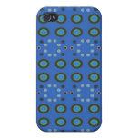 Puntos azules Pern de los círculos iPhone 4 Protector