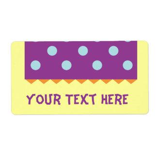 Puntos azules púrpuras etiquetas de envío