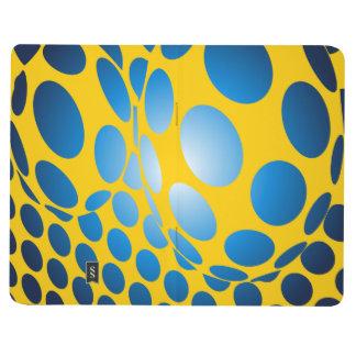 Puntos azules y amarillos cuadernos grapados