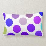 Puntos azules y púrpuras grandes cojin