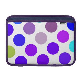 Puntos azules y púrpuras grandes funda para macbook air
