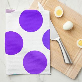 Puntos azules y púrpuras grandes toallas de mano