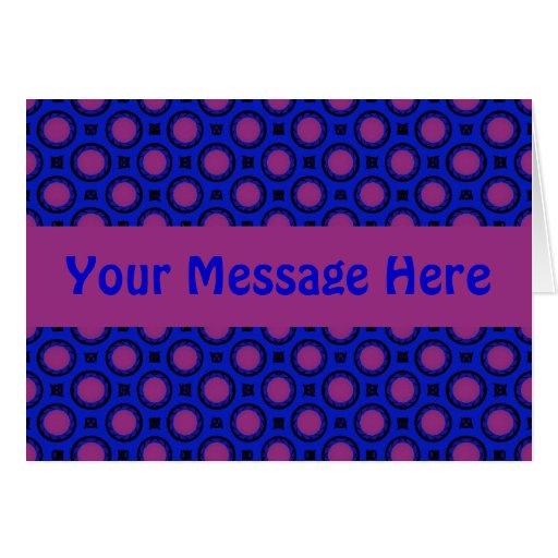 puntos azules y púrpuras tarjeta de felicitación