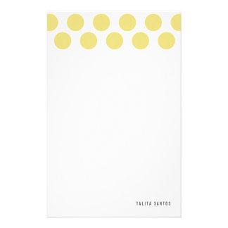 Puntos beige elegantes modernos de la arena person papelería personalizada