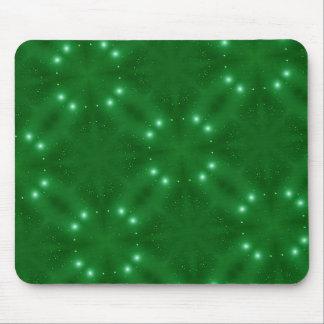 Puntos blancos blancos del modelo verde tapete de ratones