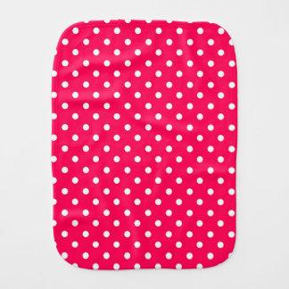Puntos blancos en de color rosa oscuro paños de bebé
