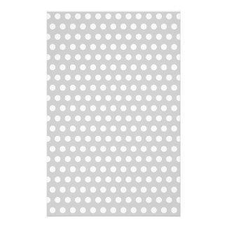 Puntos blancos en gris claro papeleria de diseño
