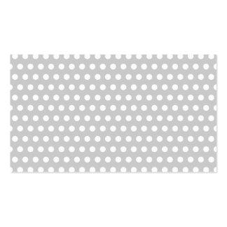 Puntos blancos en gris claro tarjetas de visita
