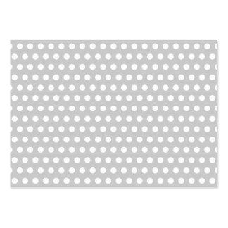 Puntos blancos en gris claro tarjetas de visita grandes