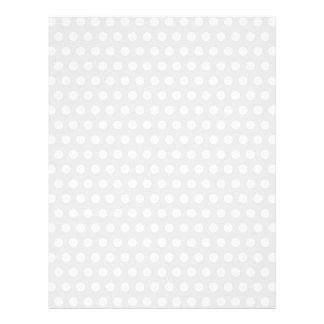 """Puntos blancos en gris pálido folleto 8.5"""" x 11"""""""