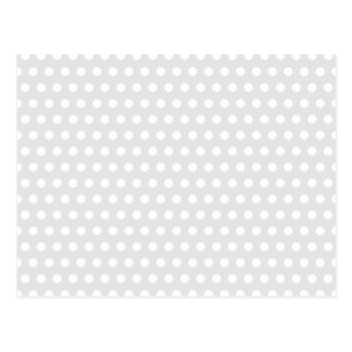 Puntos blancos en gris pálido tarjetas postales
