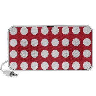 Puntos blancos en rojo oscuro iPhone altavoz