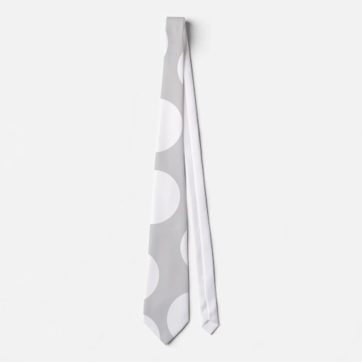 Puntos blancos grandes en fondo gris corbatas