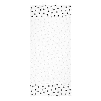 Puntos blancos y negros del confeti lonas publicitarias
