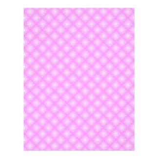 Puntos blancos y páginas rosadas del papel del membrete a diseño