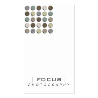 Puntos borrosos monocromáticos del artista de la tarjetas de visita