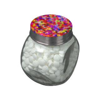 puntos brillantes coloridos (i) frascos de cristal