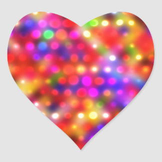 puntos brillantes coloridos (i) pegatina en forma de corazón