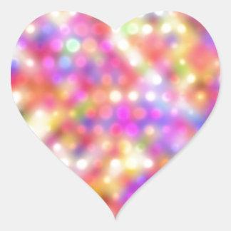 puntos chispeantes suaves (i) pegatina en forma de corazón