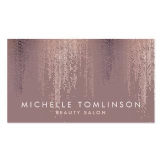 Puntos color de rosa elegantes del confeti del oro tarjetas de visita